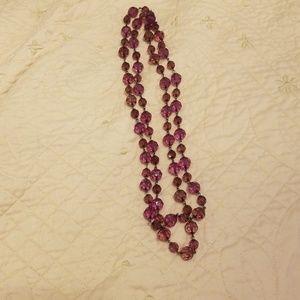 Purple bead necklace
